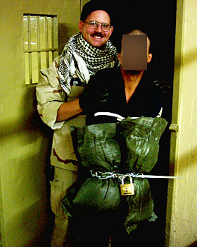 "Spc. Charles Graner seen here was a former ""correctional"" officer and given the harshest sentence for these photo leaks of anyone else involved, for being the ""ring leader"" of sorts. He served the longest time by far - 6.5 years of a 10 year sentence. Pfc. Lynndie England was sentenced to 3 years, and no one else served more than a year in prison."