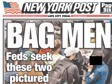 The misleading New York Post Cover which fails to even identify who the