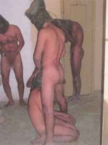 "Forced into sexually degrading positions as a means of humiliation. Clearly nothing was off-limits in the U.S. military's attempts to ""break"" these men in."