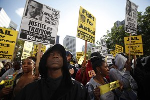Peaceful protests were held all throughout the nation at the racist verdict that declared Trayvon Martin's life unworthy of protection under law.