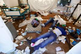 This is the scene of the massacre of Black patients at Hospital carried out by Libyan Rebels in Tripoli.