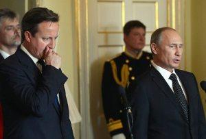 British Prime Minister David Cameron and Russian President Vladimir Putin