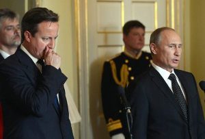 British Prime Minister David Cameron and Russian President Vladimir Putin
