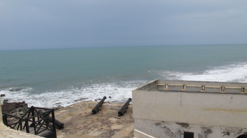 A view from the top of the fortress of Emina Castle in Ghana.
