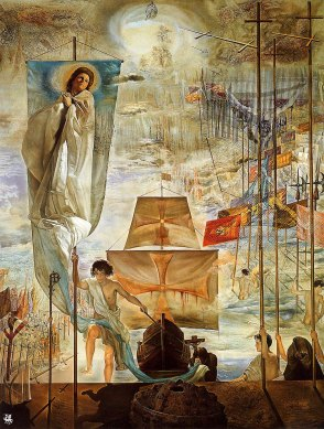 an artist's highly fictionalized version of Columbus's voyage to the 'New World.'