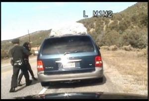 A New Mexico State Trooper tussles with a mother from Tennessee allegedly pulled over for speeding.