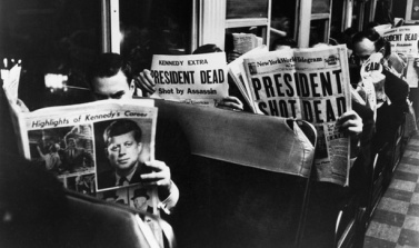 A stunned public read about President Kennedy's assassination in Dallas, Texas on November 22, 1963