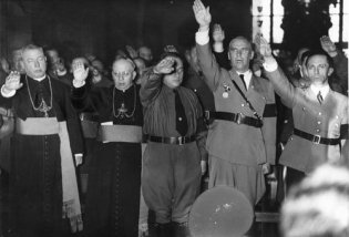 Both Catholic and Protestant Churches inside Germany were complacent with the Nazi regime.