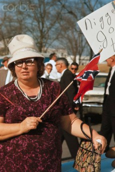 These conservative protesters of the 1960's are almost indistinguishable from many of the tea party protesters in the 21st century.