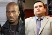 Hip Hop star DMX (left) was purportedly to take on racist killer George Zimmerman (right) in the boxing ring.