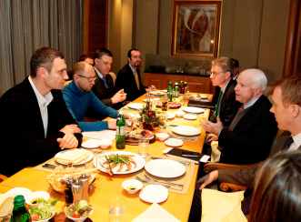 John McCain wines and dines with well-known Ukrainian fascists in Kiev.
