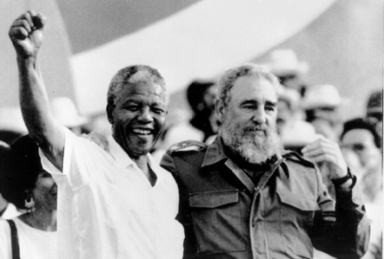 Nelson Mandela with Cuba's Revolutionary Leader Fidel Castro