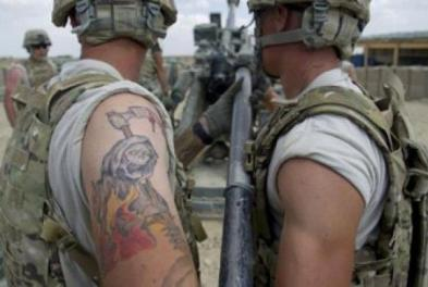 United States military tattoos