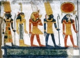 The non-whitewashed Gods of Egypt as they appeared in the ancient African land known as Kemet.