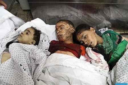 Kids killed in Al-Shuja'eyya