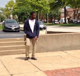 Kajieme Powell on the afternoon he was gunned down by police in St. Louis, Missouri.