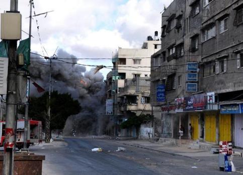 Israel regularly shells living quarters