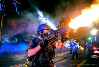These are the weapons police in Ferguson, Missouri (many from St. Louis and surrounding suburbs) on people daring to protest against the police assassination of unarmed teenager Michael Brown.