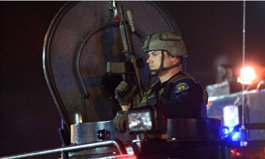 The U.S. Military in Iraq or Afghanistan? Nope, just the Police Force deployed to the tiny city of Ferguson, Missouri, a suburb of St. Louis.