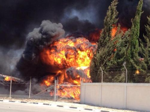 The devastating explosion by Israel of Gaza's main power plant.
