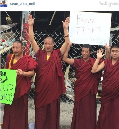 Tibetan Monks living in exile in India traveled to Ferguson, Missouri to show solidarity against systematic injustice and repression.