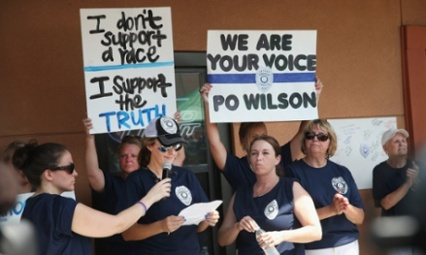 """I don't support a race, I support the truth. And the truth is that I support the white race.""  - Wilson's groupies"