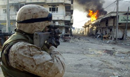 from the U.S. assault on Fallujah in Iraq, 2004.