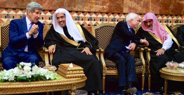Saudi Arabia: Secretary Kerry and Senator McCain Chat With Members of the Saudi Royal Family