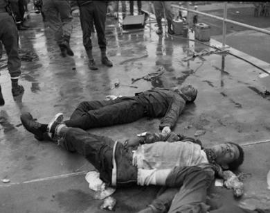 The Attica Massacre carried out by the National Guard on September 13, 1971.
