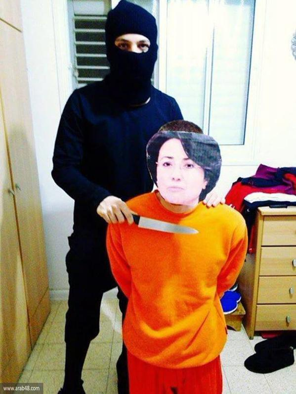 Israeli Foreign Minister Avigdor Lieberman recently called for the beheading of Palestinian residents of Israel who do not show loyalty to the state, inciting the person pictured here to stage a mock-execution of Knesset member Haneen Zoabi.