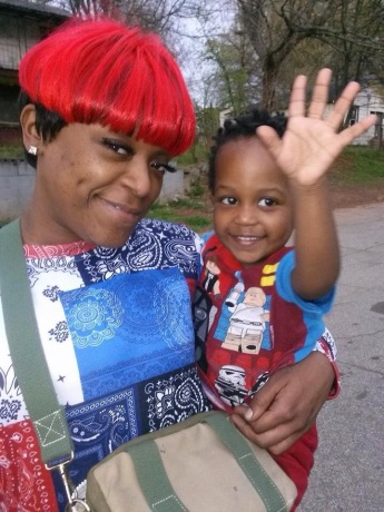 Alexia Christian and her son