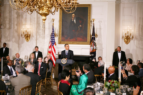Barack Obama President at White House Iftar Dinner banquet 2014 Ramadan