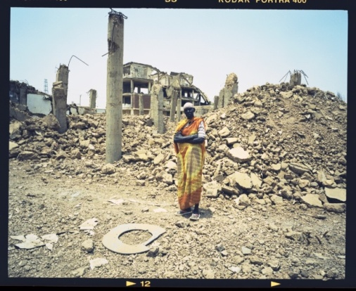 The ruins of the Al Shifa pharmaceutical factory in Khartoum, Sudan after it was unjustifiably attacked with U.S. cruise missiles on August 20, 1998.