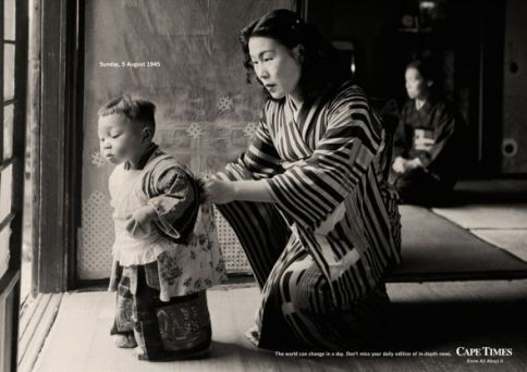 Mother and child, Hiroshima, Aug. 5, 1945, the day before the bomb.