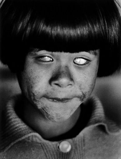 Eyes that have seen the first nuclear weapon attack on humanity.