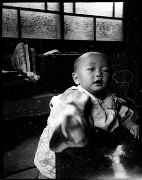 Child in Hiroshima shortly before the dropping of the bomb.