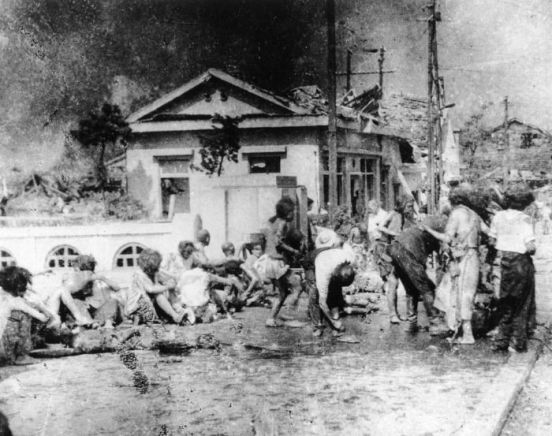 Survivors in the immediate aftermath of the Hiroshima bombing seemed in many ways to be walking corpses.