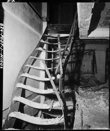 A staircase warped by the effects of the radiation; Hiroshima
