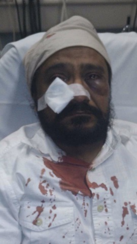 Inderjit Singh Mukker was attacked by a bigoted white youth during a traffic stop, called 'bin Laden' before being viciously beaten.