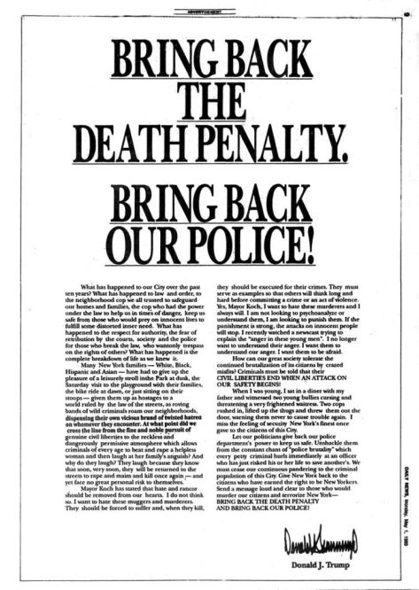 Bring back the death penalty bring back our police donald trump