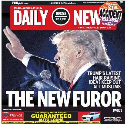 Philadelphia Daily News cover Donald Trump