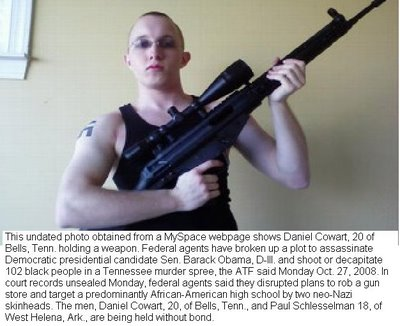 white supremacist who tried to assassinate president obama