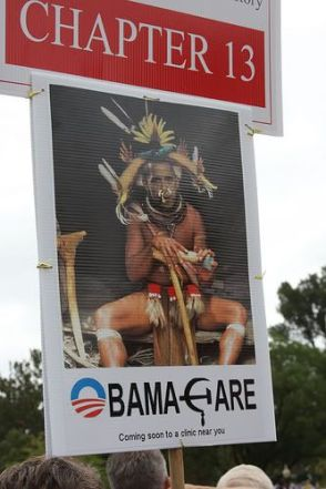 tea party sign about Obamacare